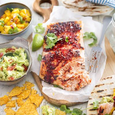 Bild på Chiligrillad lax taco style