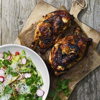Bild på Kyckling med ginger beer och nudelsallad