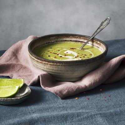 Bild på Grön ärtsoppa med kokosmjölk
