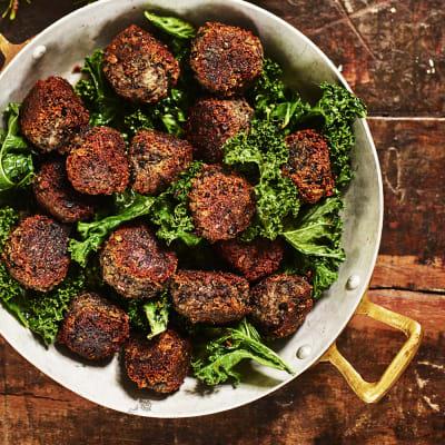 vegetariska köttbullar mandelmjöl
