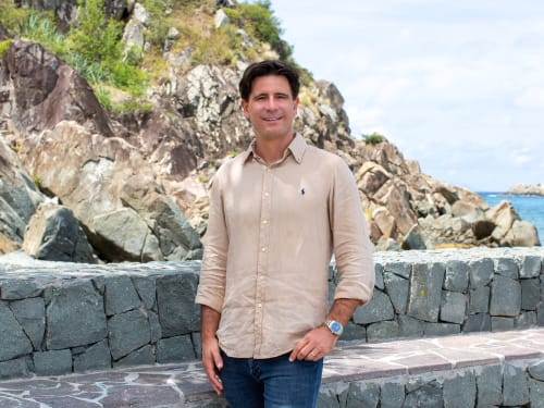 Guillaume de Corlieu, a top real estate agent in New York City for Corcoran, a real estate firm in St Barth.