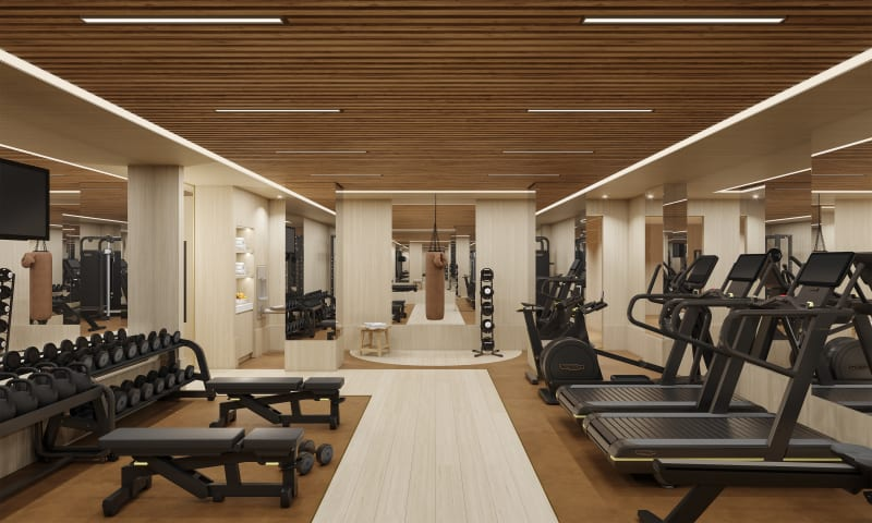 Fitness Center with Private Training Studio