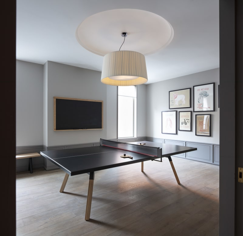 Game room, ping pong and foosball