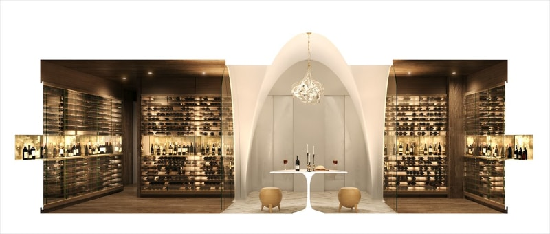 Wine Room, humidity and temperature controlled