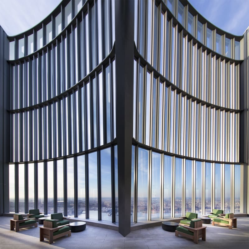 Skytop's Open-air terrace with Hudson River Views