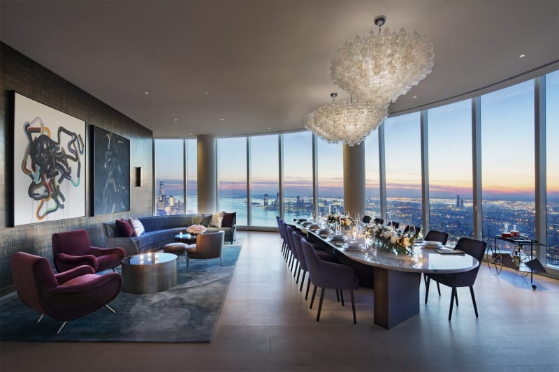 Skytop's Dining Room with Private Catering Kitchen