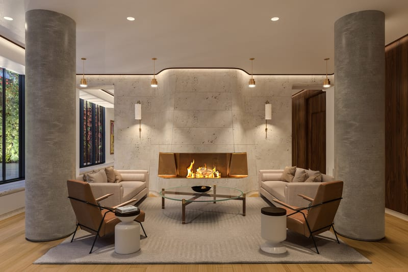 Resident's Lounge with Fireplace