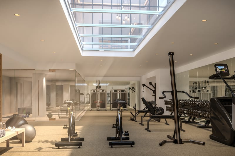 Gym with Men and Women's Shower and Steam Rooms