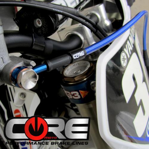 2 LINES HONDA CBR1000RR 2004-2005 CORE MOTO CUSTOM FRONT BRAKE LINE KIT CF2062