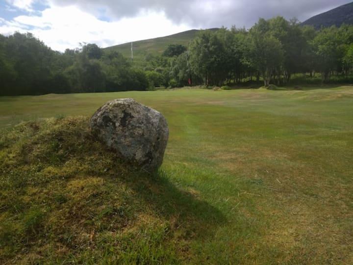 corrie golf course fourth hole