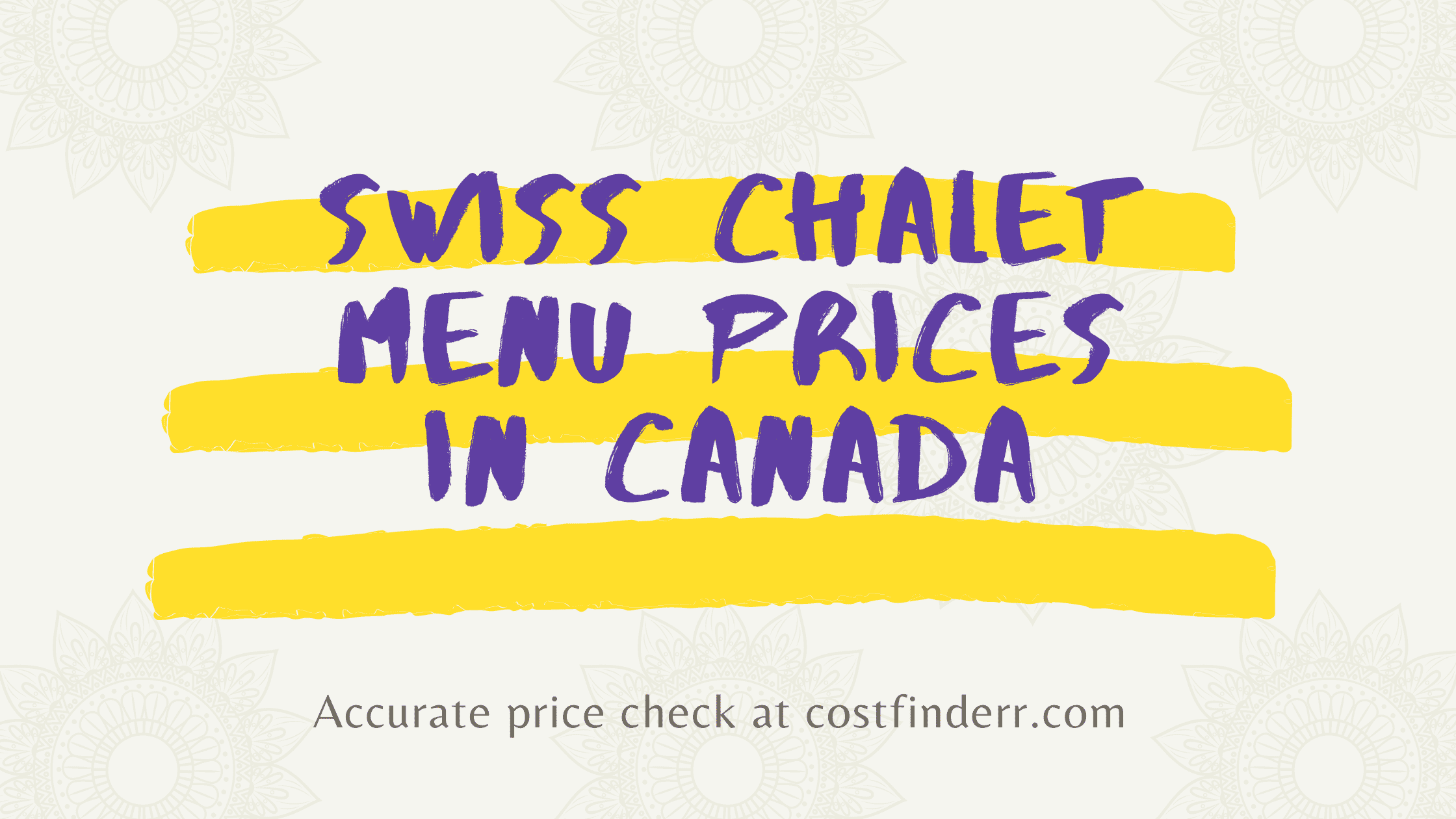 Swiss Chalet Menu Prices in Canada (2021) | Are These The Best Chicken In Canada?