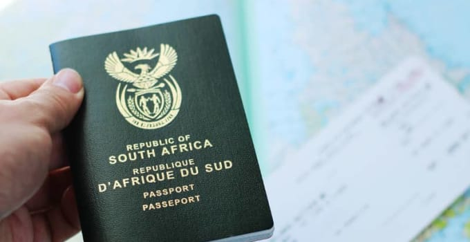 Cost of South African Passport (2021)