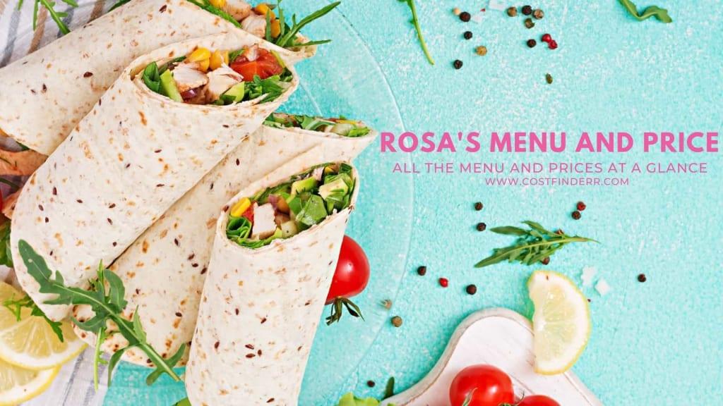 Rosa's Menu