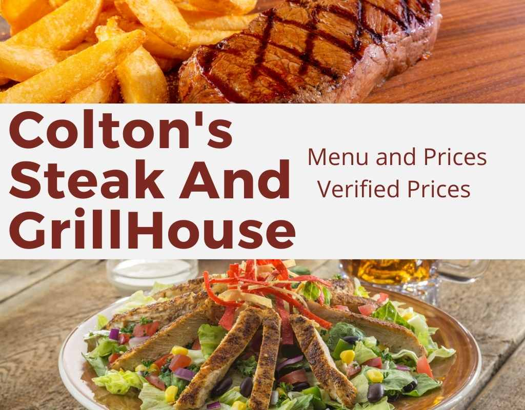coltons menu and prices