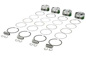 Cosworth Forged Pistons w/ Pins, Clips, and Rings 100mm 8.2:1 ( Part Number: 10001432)