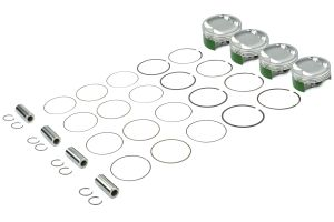 Cosworth Forged Pistons w/ Pins, Clips, and Rings 99.5mm 9.2:1 ( Part Number: 10001436)