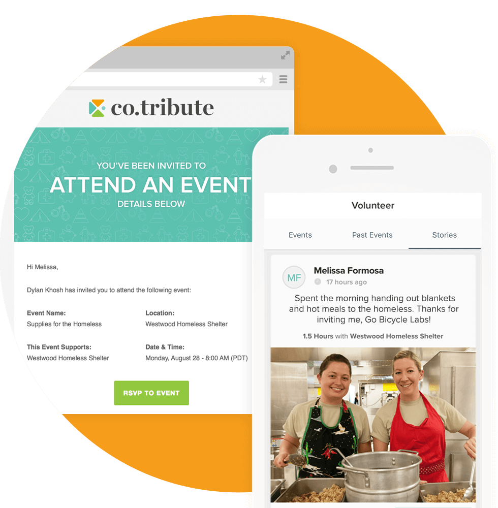 Invitations can be sent to clients to attend events held by your company; and afterwards, clients can post their stories and photos from the event.