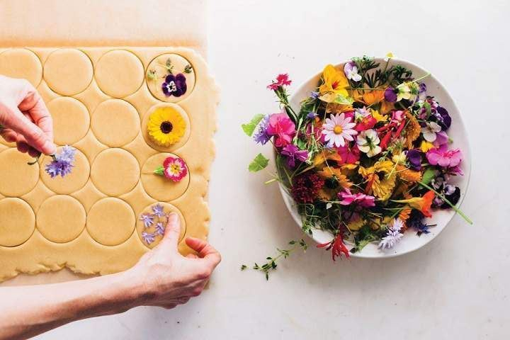 Bring Spring Inside With This Flower-Pressed Cookie Recipe (1).jpeg