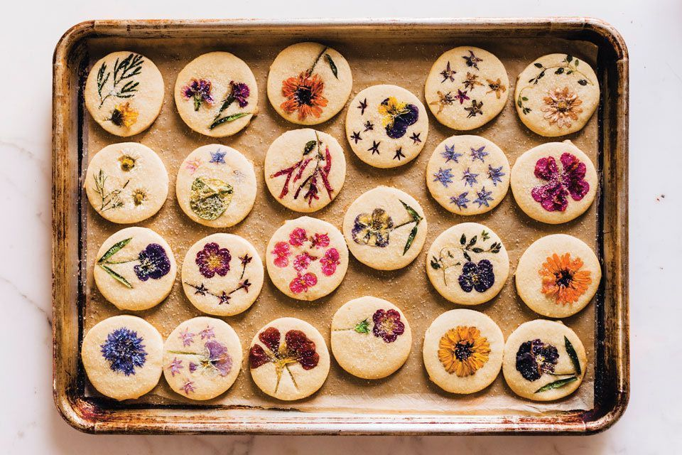 Bring Spring Inside With This Flower-Pressed Cookie Recipe.jpeg