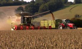 Wheat farm machinery