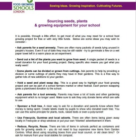 Sourcing seeds, plants and growing equipment for your school