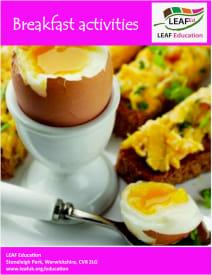 Breakfast activities - home educator version