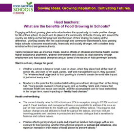 The benefits of food growing in schools