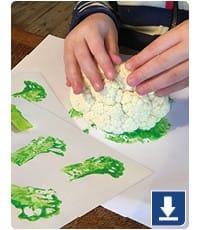 Cauliflower craft - Tractor Ted Farm School