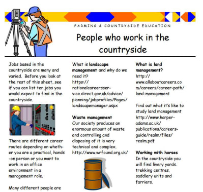People who work in the countryside