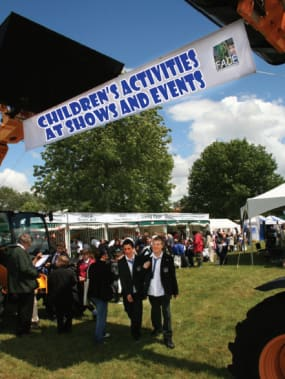 Children's activities at shows and events