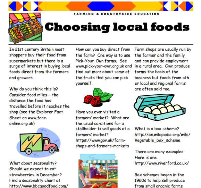 Choosing local foods