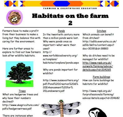 Habitats on the farm 2