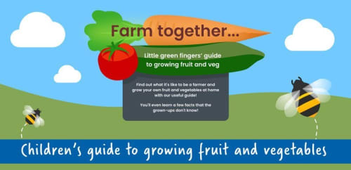 Kid's fruit and vegetable growing cheatsheet