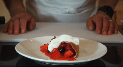 Pancakes with Warm Berries Recipe