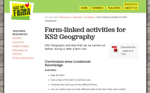 Farm-linked activities for KS2 Geography