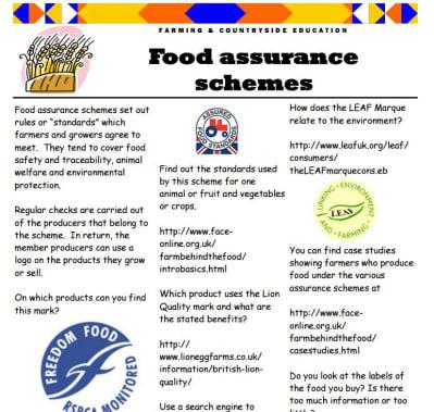 Food assurance schemes