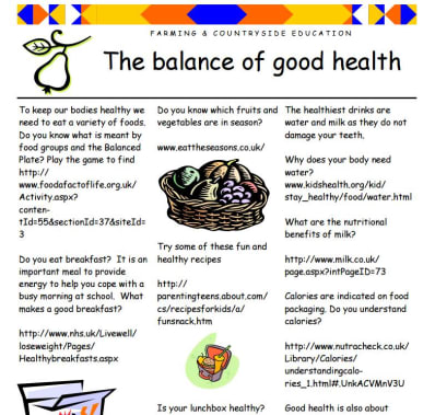 Balance of good health