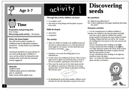 Seeds and plant growth discovery pack