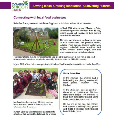 Working with local businesses to grow food