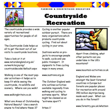Countryside recreation