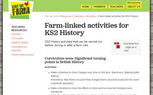 Farm-linked activities for KS2 History
