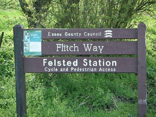 Flitch Way and Rayne Station