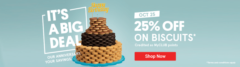 25% OFF on Biscuits