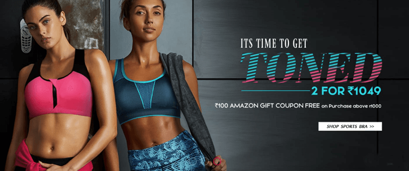 2 Sports Bra for Rs 1049 only
