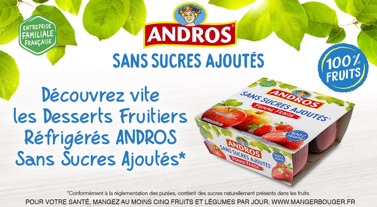 Bons De Reduction Gratuits Andros Sans Sucres Ajoutes A Selectionner Coupon Network