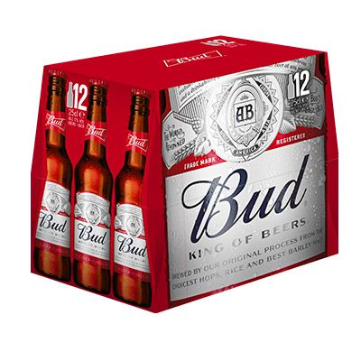 Bud – King of Beers* (6x25cl ou 12x25cl) 100000 0
