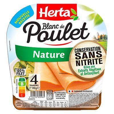 HERTA®  – Blanc de Poulet Nature Conservation Sans Nitrite x4 -140g 100000 0