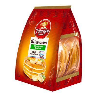 La Fournée Dorée – 10 Pancakes Crème Fraîche et Œufs Frais 350g 4 1