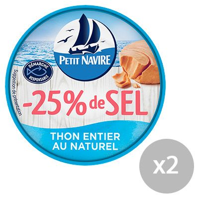 Petit Navire – Thons au Naturel -25% de sel* 4 0