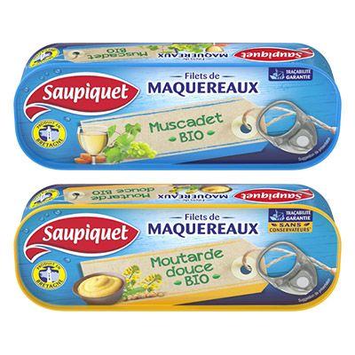 Saupiquet -  Filets de Maquereaux aux ingrédients Bio 4 0